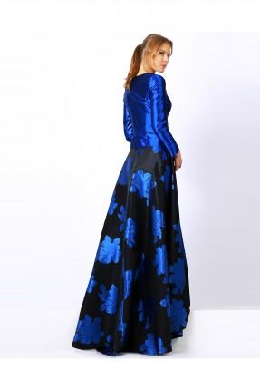 فستان نسائي كم طويل - ازرق