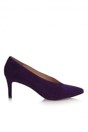 حذاء نسائي مع كعب - بنفسجي