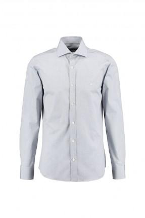 قميص رجالي - رمادي فاتح