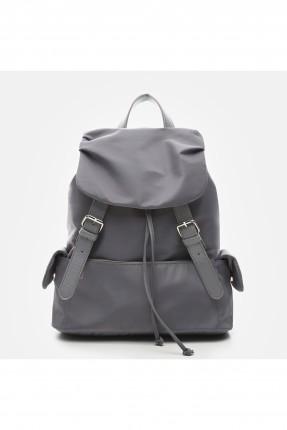 حقيبة ظهر نسائية مع جيب