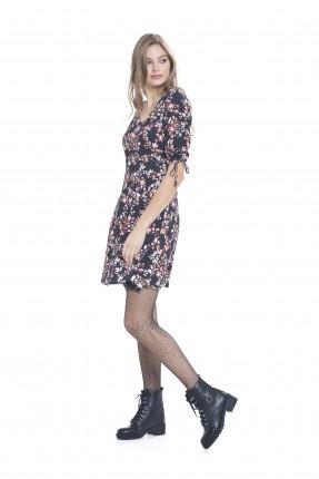 فستان نسائي قصير - اسود