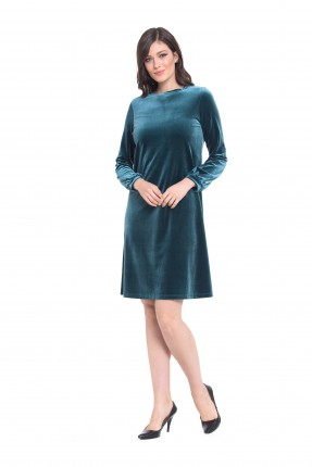 فستان نسائي كم طويل - اخضر