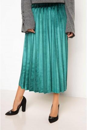 تنورة طويلة مع كسرات _ اخضر