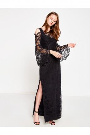 فستان نسائي طويل - اسود