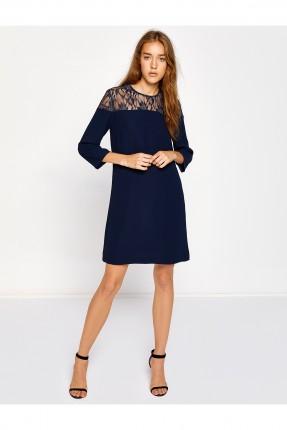 فستان نسائي قصير - نيلي