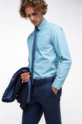 قميص رجالي _ ازرق