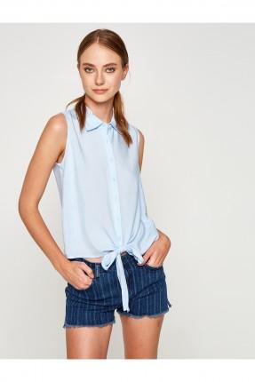 قميص نسائي حفر - ازرق فاتح