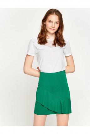 تنورة نسائية قصيرة - اخضر