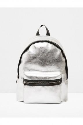 حقيبة ظهر نسائية - فضي