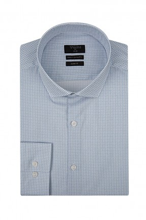 قميص رجالي - ازرق