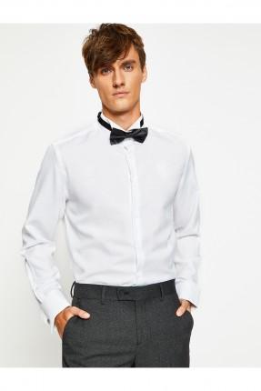 قميص رجالي رسمي - ابيض