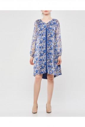 فستان سبور شيفون مزهر