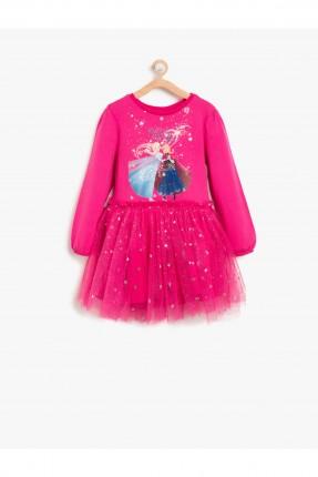 فستان اطفال بناتي رسمي - فوشي