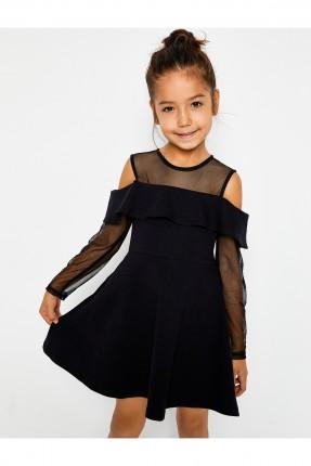 فستان اطفال بناتي رسمي - اسود