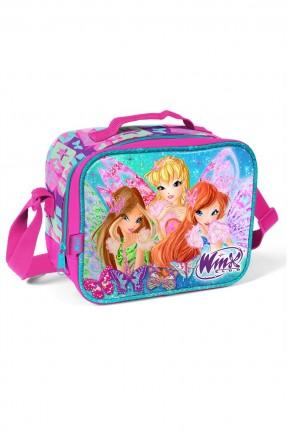 حقيبة مدرسية للطعام اطفال بناتي مع رسمة