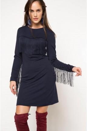 فستان سبور مع شراشيب