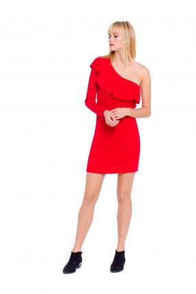 فستان نسائي قصير - احمر