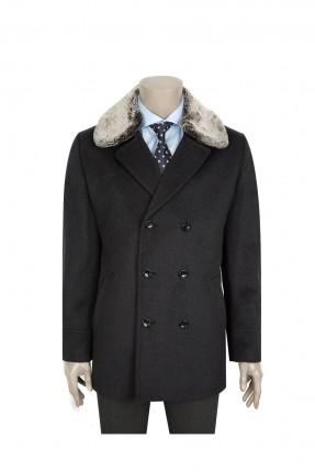 معطف رجالي - فحمي