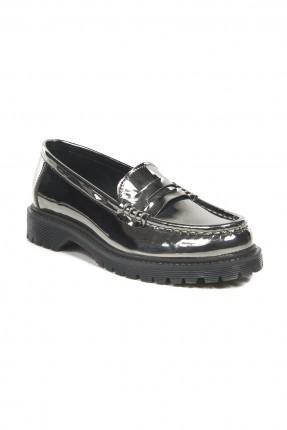 حذاء نسائي جلد _ بلاتيني