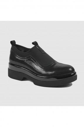 حذاء نسائي جلد _ اسود