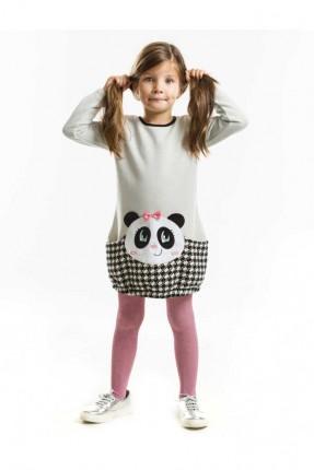 فستان اطفال بناتي  مع نقشة دب الباندا