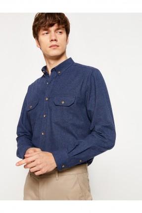 قميص رجالي سبور _ ازرق داكن