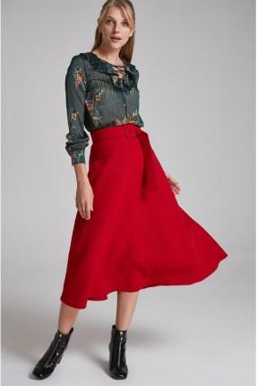 تنورة طويلة  - احمر