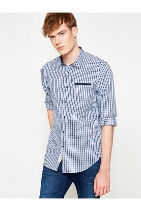 قميص رجالي _ ازرق داكن