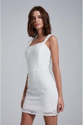 فستان رسمي - ابيض