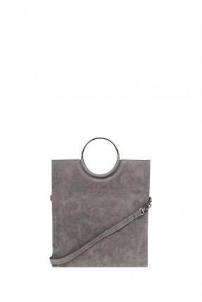 حقيبة يد نسائية بيد حديد دائرية