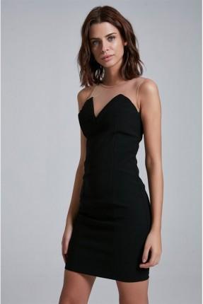 فستان سبور كت - اسود