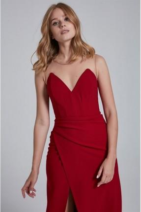 فستان رسمي كت - احمر