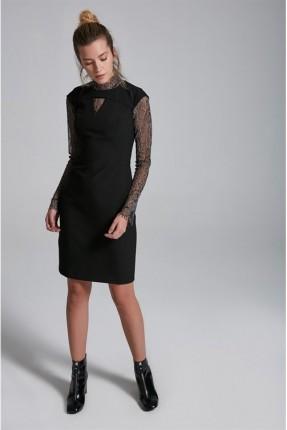 فستان مع تول - اسود