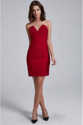 فستان كت - خمري