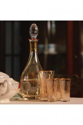 طقم شراب زجاج / 6 اشخاص - 37 قطعة /