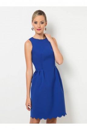 فستان حفر - ازرق