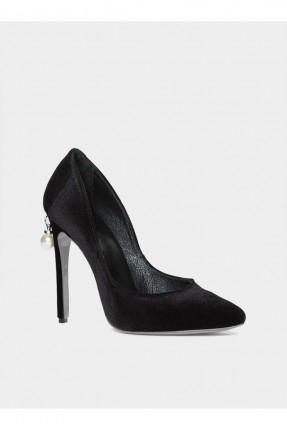 حذاء نسائي مع كعب - اسود