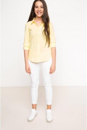 قميص اطفال بناتي - اصفر
