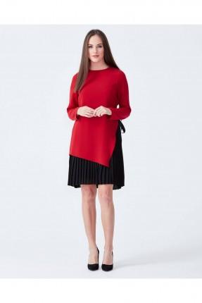 فستان كم طويل - احمر