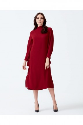فستان سبور كم طويل - خمري