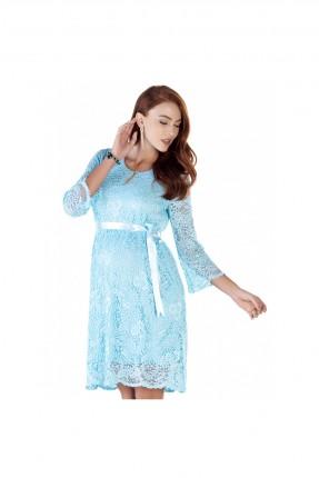 فستان حامل دانتيل - ازرق