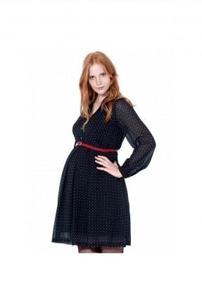 فستان حامل منقط