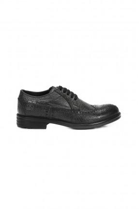 حذاء رجالي جلد _ فضي