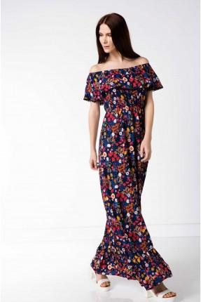 فستان طويل ملون