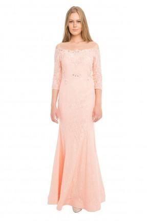 فستان رسمي طويل من الدانتيل