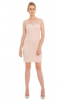 فستان رسمي مزهر من الدانتيل