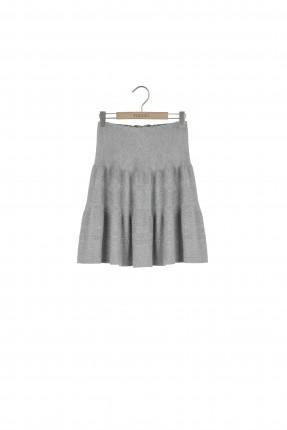 تنورة قصيرة تريكو - رمادي