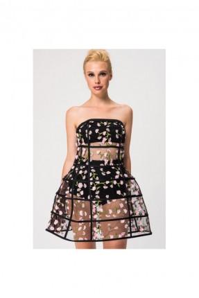 فستان رسمي قصير مزهر