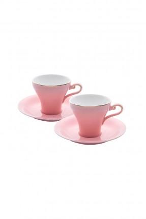 طقم فناجين قهوة / 6 اشخاص - 12 قطعة / زهر