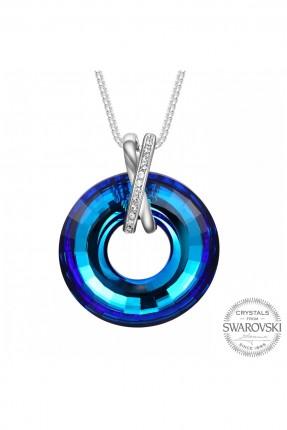 قلادة نسائية حجر الماس - ازرق